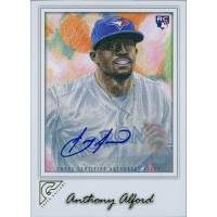 Anthony Alford Toronto Blue Jays Signed 2017 Topps Gallery Card #82