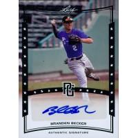 Branden Becker Signed 2014 Leaf Perfect Game Baseball Card #A-BB5