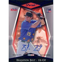 Brandon Belt Signed 2011 In The Game ITG Heroes & Prospects Between The Seams Card #BTS-BB