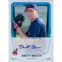 Brett Brach Cleveland Indians Signed 2010 Bowman Card #BPA-BBR