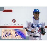 Milton Bradley Signed 2005 Topps Pristine Personal Endorsements Card #PEC-MB 497