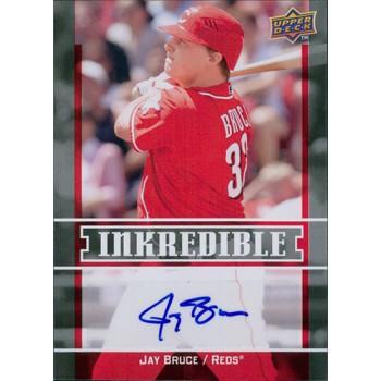 Jay Bruce Cincinnati Reds Signed 2009 Upper Deck Inkredible Card #INK-BJ