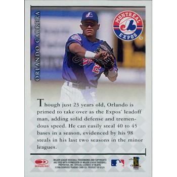 Orlando Cabrera Expos Signed 1998 Donruss Signature Series Millennium Marks Card