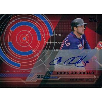 Chris Colabello Minnesota Twins Signed 2014 Topps Trajectory Card #TA-CC