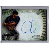 Edwin Escobar Boston Red Sox Signed 2015 Bowman Inception Card 7/99 RC #RA-EE