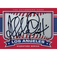 Alfredo Griffin Signed Los Angeles Angels 2.5x3.5 Card JSA Authenticated