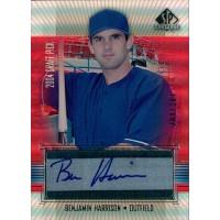 Benjamin Harrison Texas Rangers Signed 2004 Upper Deck SP Prospects Card #BE