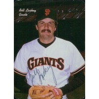 Bill Laskey San Francisco Giants Signed 1986 Mother's Cookies Card JSA Authentic
