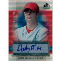 Andrew MacFarlane Philadelphia Phillies Signed 2004 Upper Deck SP Prospects Card #MA