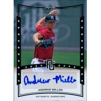 Andrew Miller Signed 2014 Leaf Perfect Game Baseball Card #A-AM3