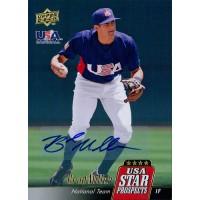 Brad Miller Signed 2009 Upper Deck Signature Stars Baseball Card #USA-A33