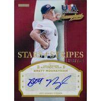 Brett Mooneyham Signed 2013 Panini USA Baseball Stars & Stripes Card /799 #BRT