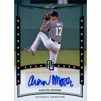 Austin Moore Signed 2014 Leaf Perfect Game Baseball Card #A-AM1