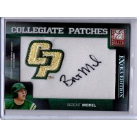 Brent Morel Signed 2008 Donruss Elite Extra Edition Collegiate Patches Card #CP-42 /250