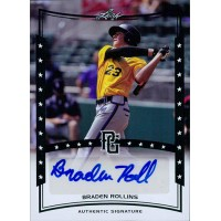 Braden Rollins Signed 2014 Leaf Perfect Game Baseball Card #A-BRI