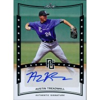 Austin Treadwell Signed 2014 Leaf Perfect Game Baseball Card #A-AT1