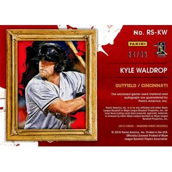 Kyle Waldrop Signed 2016 Diamond Kings Dual Jersey Card #RS-KW /99