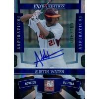 Austin Wates Signed 2010 Donruss Elite Extra Edition Baseball Card /100 #45