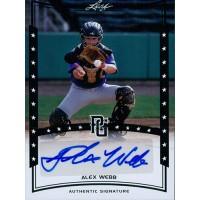Alex Webb Signed 2014 Leaf Perfect Game Baseball Card #A-AW1