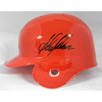Garret Anderson Anaheim Angels Signed Mini Helmet JSA Authenticated