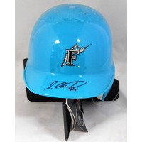 Luis Castillo Florida Marlins Signed Mini Helmet JSA Authenticated