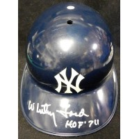 Whitey Ford New Your Yankees Signed Full Size Authentic Helmet JSA Authenticated