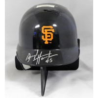 Darryl Hamilton San Francisco Giants Signed Mini Helmet JSA Authenticated