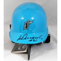Livan Hernandez Florida Marlins Signed Mini Helmet JSA Authenticated