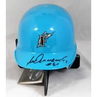 Livan Hernandez Florida Marlins Signed Mini Helmet JSA Authenticated