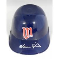 Harmon Killebrew Minnesota Twins Signed Souvenir Mini Helmet JSA Authenticated