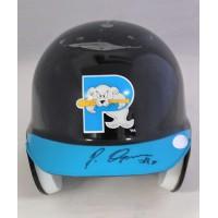 Pablo Ozuna Portland Seadogs Signed Mini Helmet Just Minors Authenticated