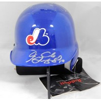 Fernando Seguignol Montreal Expos Signed Mini Helmet JSA Authenticated