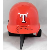 Justin Thompson Texas Rangers Signed Mini Helmet JSA Authenticated