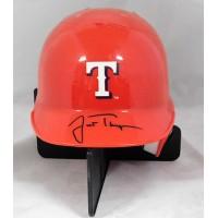 Justin Thompson Texas Rangers Signed Mini Helmet JSA Authenticated