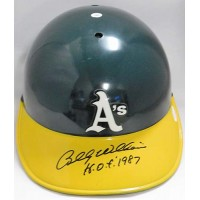 Billy Williams Oakland Athletics Signed Full Size Auth Helmet JSA Authenticated