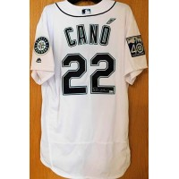 Robinson Cano Seattle Mariners Signed Authentic 40th Anniversary Jersey MLB Authenticated
