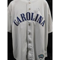 Blake Davis Signed Carolina Replica Jersey JSA Authenticated