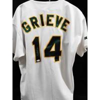 Ben Grieve Oakland Athletics Signed Authentic Jersey JSA Authenticated