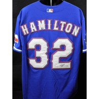 Josh Hamilton Texas Rangers Signed Custom Jersey JSA Authenticated
