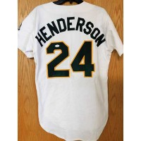 Rickey Henderson Signed Oakland Athletics A's Authentic Jersey JSA Authenticated