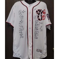 2017 Signed Washington Nationals Authentic Team Jersey with 32 signatures JSA Authenticated