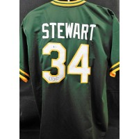 Dave Stewart Oakland Athletics Signed Custom Jersey JSA Authenticated