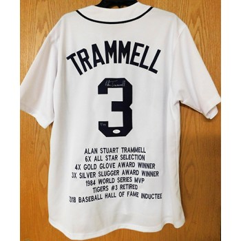 Alan Trammell Signed Detroit Tigers Custom Stat Limited Edition Jersey JSA Authenticated