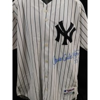 Javier Vasquez New York Yankees Signed Authentic Jersey MLB Authenticated
