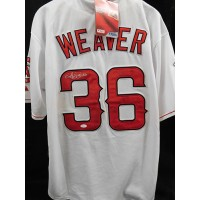Jered Weaver Los Angeles Angels Signed Custom Jersey JSA Authenticated