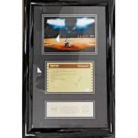 Hank Aaron Signed Framed Congratulatory Western Union Telegram on HR 715 JSA Authenticated