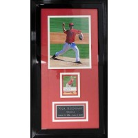 Nick Adenhart Angels Signed 2008 Topps Stadium Club Framed with 8x10 Photo
