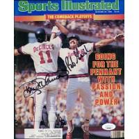 California Angels Doug DeCinces and Bob Grich Signed Magazine Page JSA Authentic
