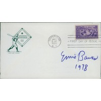 Ernie Banks Signed First Day Issue Cover JSA Authenticated