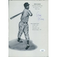 Ernie Banks Chicago Cubs Signed 7.5x10.5 Page JSA Authenticated